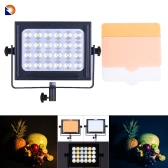Zifon ZF-6000 24 LED Video Light Dimmable DSLR Camera Camcorder Panel Light w/ White Orange Filter High Power Ultra Bright for Photo Studio
