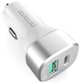 dodocool 33W 2-Port Car Charger with Quick Charge 3.0 and USB-C Output Charging Port for LG G5 / HTC One A9 / Xiaomi Mi 5 / LeTV Le MAX Pro / Nexus 6P / Lumia 950XL / OnePlus Two / MeiZu PRO 5 / Lenovo Zuk Z1 and more