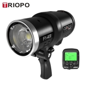 TRIOPO Oubao F1-400 400W 1/8000s High Speed Sync Outdoor Flash Strobe Light 5600K for Canon Nikon Cameras with 2.4G Wireless Trigger and Rechargeable Li-ion Battery with Bowens Mount