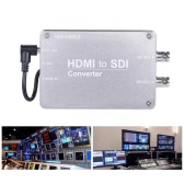 Feelworld HDMI to SDI Video Audio Converter Adpater HDMI Input 2-way SDI Output 1080P Broadcast Support 3G/HD/SD-SDI Conversion