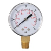 "50mm 0~15psi 0~1bar Pool Filter Water Pressure Dial Hydraulic Pressure Gauge Meter Manometer 1/4"" NPT Thread"