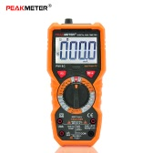 PEAKMETER PM18C True RMS Multifunctional Digital Multimeter Measuring AC/DC Voltage Current Resistance Capacitance Frequency Temperature hFE NCV Live Line Tester