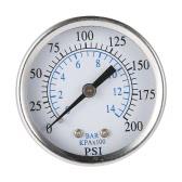 "50mm 0~200psi 0~14bar Pool Filter Water Pressure Dial Hydraulic Pressure Gauge Meter Manometer 1/4"" NPT Thread"
