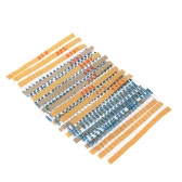 200pcs 1/2W 10 Values 5.1 ohm to 10k ohm Metal Film Resistors Assortment Kit Electronic Components
