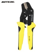 Meterk Professional Wire Crimper Engineering Ratchet Terminal Crimping Pliers JX-02C 0.25-2.5mm2 Insulated Terminals Or Color Code Nests AWG24-14