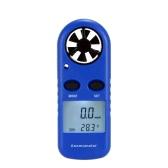 Multifunctional LCD Mini Anemometer Wind Speed Air Velocity Temperature Measurement Beaufort Scale Display