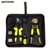 Meterk Professional 4 In 1 Wire Crimpers Engineering Ratcheting Terminal Crimping Pliers Bootlace Ferrule Crimper Tool Cord End Terminals With Wire Stripper