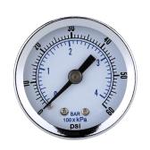 "1/8"" NPT Air Compressor Hydraulic Pressure Gauge 0-60 PSI Back Mount 1.5"" Dial Plate"