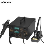 KKmoon 852D+ Multifunctional Digital SMD Rework Station Welder Hot Air Gun Soldering Iron Stand Desolder Set BGA Nozzles AC110V
