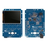 "2.4"" TFT Handheld Pocket-size Digital Oscilloscope DIY Kit Parts with Case SMD Soldered Electronic Learning Set 1MSa/s 0-200KHz"