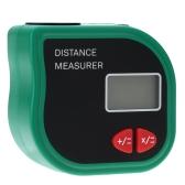 18m Digital Handheld Ultrasonic Distance Meter Range Finder Measure Diastimeter Area/Volume Tool with Laser Point