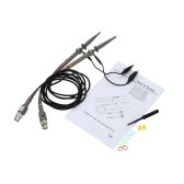 P6020 2Pcs High Precision Oscilloscope Probe 1X 10X 20MHz Alligator Clip Test Probe