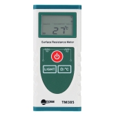 Handheld Surface Resistance Meter with LCD Display Electrostatic Static Electricity Tester Temperature Measurement