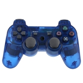 Wireless Bluetooth Game Controllor Bluetooth 4.0 Six Axis Double Vibration Gamepad Game Console Dark Blue for PS3