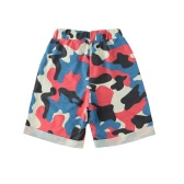 Fashion Kids Baby Boy Girl Shorts Camo Camouflage Elastic Waist Pockets Casual Children Pants Trousers Green/Dark Blue/Red
