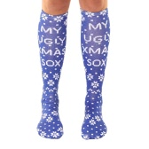 New Fashion Women Long Socks Snowflake Mermaid Deer Santa Claus Print Christmas Socks