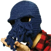 Winter Unisex Beanie Funny Tentacle Octopus Warm Knit Hat Wind-Proof Mask