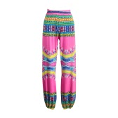 New Women Bohemia Leggings Printed High Waist Wide Leg Lantern Pants Loose Sports Gym Fitness Dancing Trousers