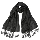 New Fashion Women Scarf Glitter Silk Tassels Long Shawl Hijab Bandana Head Scarf