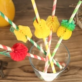 50pcs/set Excellent Amazing 3D Cute Fruits Food Grade Paper Straws for Birthday Wedding Baby Shower Celebration and Party Multifunctional Straws with Fruits Decorated