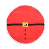 """Festnight 57"""" High Quality Christmas Round Tablecloth Red Table Cover with Santa Clause Waistbelt Pattern"""