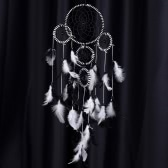 "Handmade Tradition Indian Dream Catcher with Real Feather Wall/Car Hanging Decoration Ornament 4.9""Diameter 27""Long"