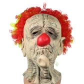 FESTNIGHT Halloween Creepy Scary Funny Pennywise Clown Mask Latex Face Mask For Costume Ball