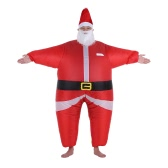 Funny Christmas Inflatable Santa Claus Costume Jumpsuit Air Fan Operated Blow Up Xmas Suit Christmas Party Fancy Dress Inflatable Outfit