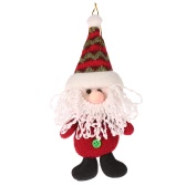 Festnight Mini Cute Santa Claus Doll Hanging Ornament Christmas Tree Decoration Shop Window Decor Gift