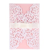 10pcs Romantic Invitation Cards + 10pcs Inner Sheets + 10pcs Envelopes + 10pcs Bowknots Wedding Party Banquet Decoration