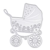 Metal Baby Stroller Carbon Steel Template Embossing Cutting Dies Stencil Scrapbooking Decorative DIY Craft Paper Card