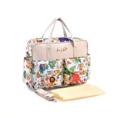 Colorful Baby Diaper Shoulder Bag Mummy Handbag with Changing Pad Liner Antibacterial Water Resistant