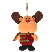 Festnight Mini Cute Reindeer Doll Hanging Ornament Christmas Tree Decoration Shop Window Decor Gift