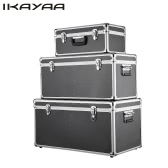 iKayaa 3PCS Multi-Purpose Aluminum Tool Boxes Case Lockable Storage Boxes Container Large/Middle/Small Size With Handles