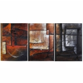 3pcs Unframed Hand-painted Oil Painting Set Stylish Canvas Print Decoration for Home Living Room Bedroom Office Art Picture