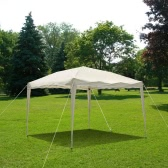 IKAYAA 3*3*2.6M Water-resistant Folding Outdoor Garden Canopy Gazebo Pop Up Party Wedding Camping Tent Marquee Pavilion 160g Polyester w/Carry Bag