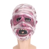 FESTNIGHT Halloween Creepy Scary Toothy Devil Mask Mummy Latex Face Mask Trick Nightmare Mask For Costume Ball