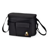 Baby Diaper Shoulder Bag Mummy Handbag Stroller Saddlebag Water Resistant Thermal Insulation