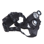 3000Lm 1* T6 & 2* R2 LED Rechargeable Headlamp Headlight + AC Charger