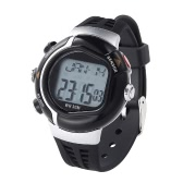 Irregular Monitor Pulse Watch Heart Rate Calorie Counter Exercise Gym Sportwatch Black