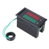 AC Digital Ammeter Voltmeter Dual Digital LCD Panel Amp Volt Meter 100A 80-300V w/ Rear Cover