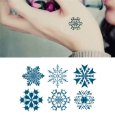 Tattoo Sticker Snowflakes Pattern Waterproof Temporary Tattooing Paper Body Art