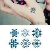 Tattoo Sticker Snowflakes Pattern Waterproof Temporary Tattooing Paper Body Art