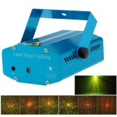 Mini LED Laser Projector Red & Green Stage Lighting Effect Patterns Voice-activated Voice-control DJ Disco Xmas Party Club Light Adjustment with Tripod AC110-240V