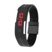 LED Sport Watch Water Resistant Fashionable Digital Bracelet for Men and Women Black