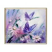 DIY Handmade Diamond Painting Set Butterfly Resin Rhinestone Pasted Cross Stitch for Home Decoration 30*30cm