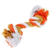 ANSELF Multicolor Cotton Pet Rope Bone Durable Bone Shaped Dog Chew Toy Toxic Free Puppy Entertained Rope Bone Toy Multi Knots Rope Bone for Pet