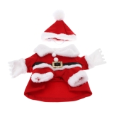 Soft Warm Pet Dog Puppy Clothes Christmas Santa Claus Costume with Hat L