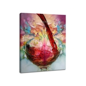 60*70cm Hand-painted Abstract Oil Painting Wine Glass Decorative Art for Home Living Room Bedroom Office Hotel Decoration