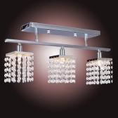 Crystal Chandelier with 3 Lights Lamp Ceiling Lighting - Linear Design 110-120V